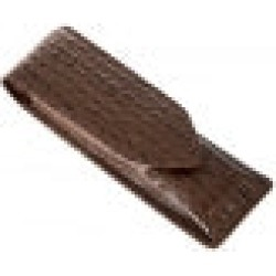 Crocodile Print Leather Pen Case, BROWN / ONE found on Bargain Bro UK from Dents