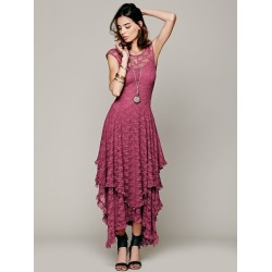 Costbuys  Summer Autumn Lace Up Fashion Sexy Long Dress Women High Quality Backless Lady Beach Wear - Red / XL