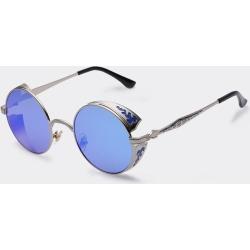 Costbuys  Steampunk Vintage Sunglass Fashion round sunglasses women designer metal carving sun glasses men oculos de sol - C01bl