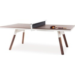 You And Me Ping Pong Table -220 Medium - Walnut / White