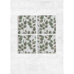 Wood Wall Art - Set of 4 - Green Eucalyptus Watercol in Green/White by VIDA Original Artist found on Bargain Bro Philippines from SHOPVIDA for $175.00