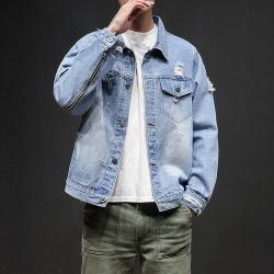Costbuys  Plus Size 5XL Spring Autumn Casual Chaqueta Men Denim Jacket Slim Fit Fashion Turn-down Collar Male Cowboy Jackets - l