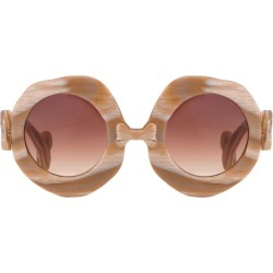 Jeremy Scott Bone Shaped Sunglasses in Brown found on MODAPINS from Linda Farrow for USD $280.47