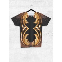 Unisex Tee - Front Print - Egyptian Inspired in Brown by VIDA Original Artist
