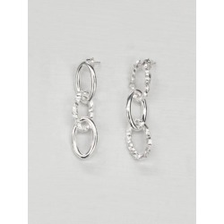 All Blues Ellipse Small Triple Earrings Silver found on MODAPINS from theundone.com for USD $348.18