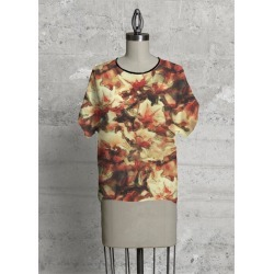 Modern Tee - Mae in Brown/Red/Yellow by VIDA Original Artist found on Bargain Bro Philippines from SHOPVIDA for $80.00