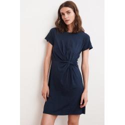 Briar Cotton Slub Knot T-Shirt Dress (XS), Velvet by Graham & Spencer