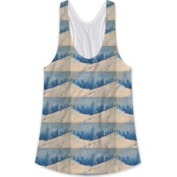 Printed Racerback Top - Winter Blues in Blue/White by VIDA Original Artist found on Bargain Bro India from SHOPVIDA for $45.00