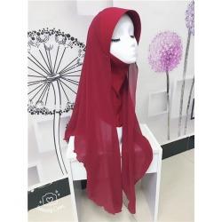 Costbuys  chiffon muslim hijabs scarf fashion headscarf voile musulman solid bonnet hijab - TJ71007 / One Size