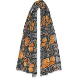 100% Cashmere Scarf - Monarch Butterflies Art by VIDA Original Artist found on Bargain Bro Philippines from SHOPVIDA for $145.00