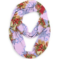 Infinity Eco Scarf - Pink Holiday Candle Art by VIDA Original Artist found on Bargain Bro India from SHOPVIDA for $45.00