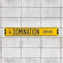 Iowa Hawkeyes: Domination Drive - Officially Licensed Metal Street Sign by Fathead | 100% Steel