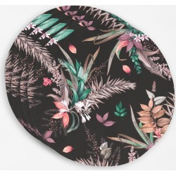 Placemat Set - Colorful Night Bouquets in Brown by Always Seek Original Artist