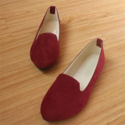 Costbuys  Women Flats Shoes Woman Loafers Summer  Flat Casual Shoes Women - Wine Red / 8 found on Bargain Bro Philippines from cost buys for $87.99