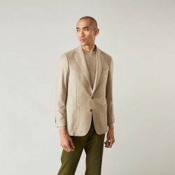 Beige Wool, Silk and Cashmere Bern Jacket - 40 found on Bargain Bro UK from Turnbull & Asser