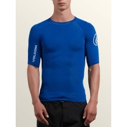 Volcom Lido Solid Short Sleeve Rashguard - Camper Blue - M found on Bargain Bro Philippines from volcom.com for $32.00