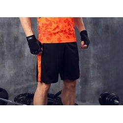 Costbuys  Men's Sport Running Shorts GYM Shorts Board Basketball Shorts Dry Breathable Knee-length Men's Trunks - Orange / M