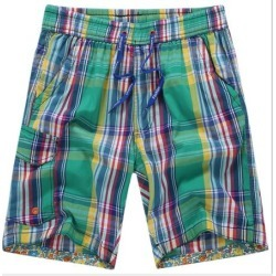 DISCOUNT Costbuys  Summer Men Surfing Beach Shorts Men Quick Dry Plaid Board Shorts Swim Breathable Men's Water sports – 2  L