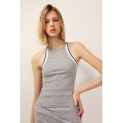 ARIA STRIPED HALTER NECK TANK found on Bargain Bro India from jae. co., ltd for $18.90