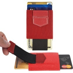 Samsung Rugby II SGH-A847 - Slim Elastic Card Holder Wallet, Red/Black found on Bargain Bro India from cellularoutfitter.com dynamic for $9.99