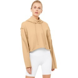 Alo Yoga Effortless Hoodie - Putty - Size L - Performance Fabric