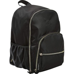 Black Sport Mini Backpack with Gold Hardware