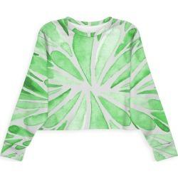 Modern Eco Sweatshirt - Symmetrical Drops Green in Green/White by VIDA Original Artist found on Bargain Bro Philippines from SHOPVIDA for $80.00