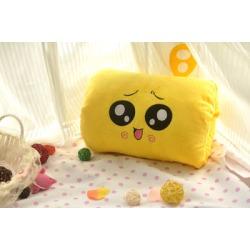 DISCOUNT Costbuys  Cartoon Totoro warm winter hand warmer pillow warm hand plush toys Girls Valentine's Day gift – Yellow