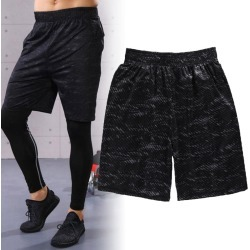 Costbuys  Men Running Sports Shorts Fitness Workout Gym Basketball Quick Dry Sportswear - L