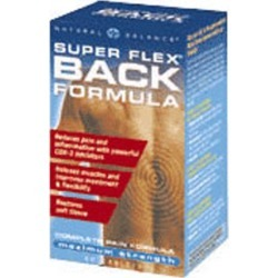 Super Flex Back Formula 60 Tabs by Natural Balance (Formerly known as Trimedica) found on Bargain Bro from Herbspro for USD $21.88