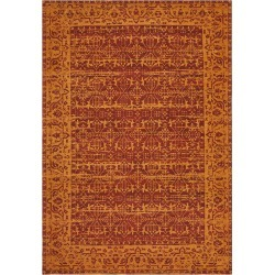 Magnolia Border Paprika Rug found on Bargain Bro Philippines from Simply Wholesale for $231.69