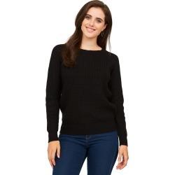 Crew Neck Sweater, Black / Small