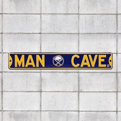 Buffalo Sabres: Man Cave - Officially Licensed NHL Metal Street Sign by Fathead | 100% Steel