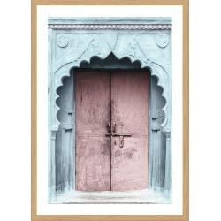 Pink Door Photographic Print With Frame