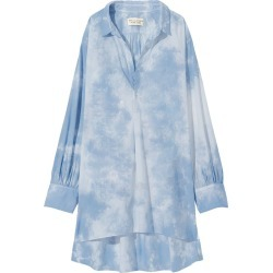 Nili Lotan Women's Ambrose Tie Dye Tunic Top in Blue size Large found on MODAPINS from kirna zabete for USD $295.00