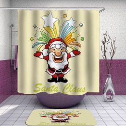 Happy Santa Claus Shower Curtain found on Bargain Bro India from Simply Wholesale for $54.39