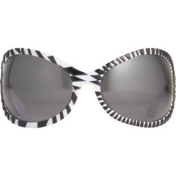 Jeremy Scott Wrap Sunglasses in Black and White found on MODAPINS from Linda Farrow for USD $314.68