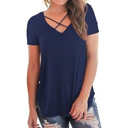 749d74a3323 Costbuys Women Plus Size Casual T-shirt Female Summer Black White Solid  Short Sleeve V Neck Loose Tops Tees Shirt Elegant Tshir from cost buys