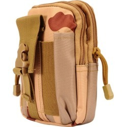 LG Phoenix 3 - Desert Camo Dual Zipper Tactical Heavy-Duty Rugged Carrying Pouch, Desert Tan found on Bargain Bro Philippines from cellularoutfitter.com dynamic for $19.99