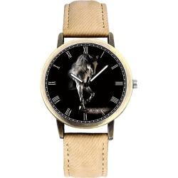 Costbuys  Fashion Casual Watches Retro Cowboy Jeans Strap Quartz Wrist Watch Men Black Creative Horse Dial Male Clock Unique Gif