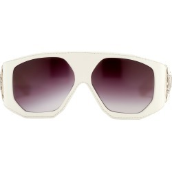 Jeremy Scott Leather Sunglasses in White found on MODAPINS from Linda Farrow for USD $383.08