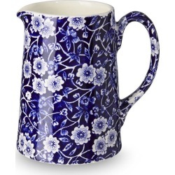 Blue Calico Small Tankard Jug 284ml/0.5pt Seconds found on Bargain Bro UK from Burleigh