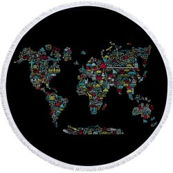 Unique World Map Beach Towel found on Bargain Bro India from Simply Wholesale for $56.48