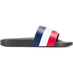 MONCLER BASILE striped slip on slides black found on Bargain Bro UK from Maison De Fashion