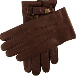Dents Men's Handsewn Cashmere Lined Deerskin Leather Gloves In Bark Size 9.5 found on Bargain Bro UK from Dents