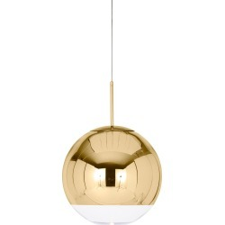 Mirror Ball Pendant 40 - Gold
