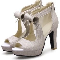 1dbf96262b Costbuys Women Shoes High Heels Platform Shoes Bow Peep Toe Pumps Sexy High  Heel Party Shoes