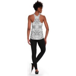 Printed Racerback Top - Grey Marble by VIDA Original Artist found on Bargain Bro India from SHOPVIDA for $45.00