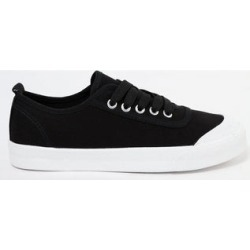 Black Classic Laced Up Trainer