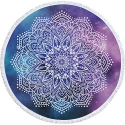 White Mandala Over Space Beach Towel found on Bargain Bro Philippines from Simply Wholesale for $57.89